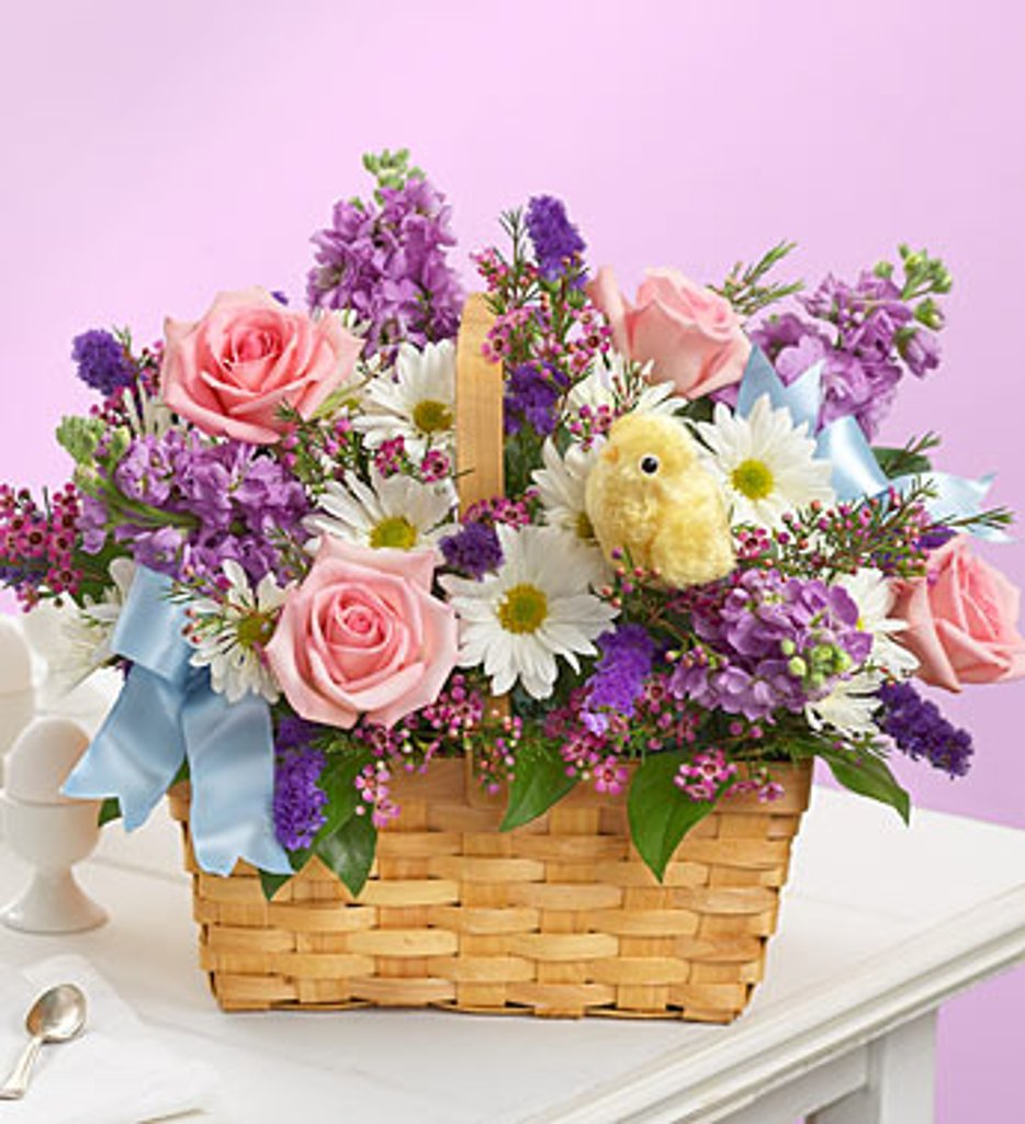 """Just Springy Basket of Flowers"""